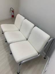 Trio cadeira para recepção
