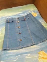Saia jeans 42 desapego