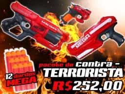 Nerf Mega Pacote do Contra-Terrorista (ver descrição)