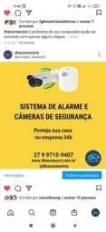 Sistema de alarme e câmeras de segurança