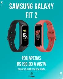 SmartWatch Galaxy Fit 2 Samsung Vermelho e Preto Com 1,1 , Lacrado (Ac.cartão)