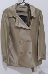 Casaco Trench Coat Dourado da Mary Zaide