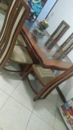 Conjunto mesa 6 cadeiras e estante de sala !