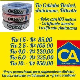 Fio Cabinho flexível antichamas com selo do Inmetro