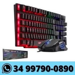 Kit Teclado e Mouse Gamer Led Rgb USB - Xtrad
