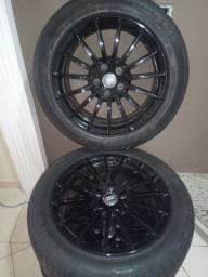 Roda aro 17 pneu zero