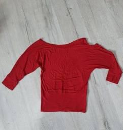 Blusa vermelha meia manga M (nova)