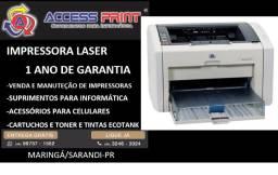 impressora hp laser 1022 1 ano de garantia