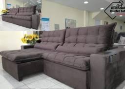 Sofá retrátil reclinável pronta entrega super confortável
