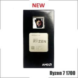 Processador Ryzen / Modelo r7 1700 com 3.0GHz (3.7GHz Max Turbo) AM4- Novo
