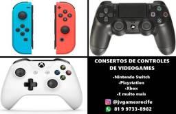 Conserto de controles de videogames