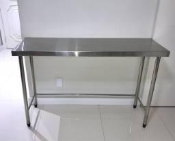 Mesa em aço inox 100x60x85 até 288x90x90
