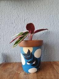 Vasos de Barro pintados artesanalmente