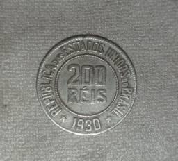 Moeda Antiga 200 Réis 1930