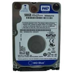 HD de 500 gb e memória RAM 2 gb.