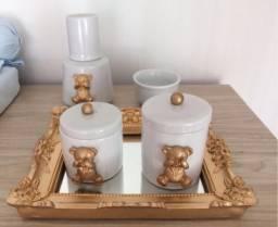 Kit higiene para quarto do bebê - em porcelana