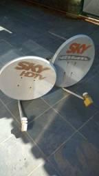 2 antenas Sky em perfeito estado
