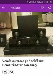 Vendo ou troco por telefone home theater Samsung 1000w
