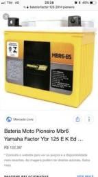 Bateria de moto semi nova testada