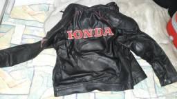 Jaqueta de couro honda