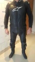 Macacão Alpinestars Masculino Gp Pró 2 Peças - Cor Preto