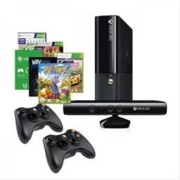 Xbox 360 com 2 controle kinect
