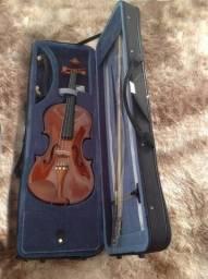 Violino Eagle 4/4 Ve441 Case+breu+arco+espaleira+ Estante+afinador