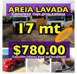 Ideal para Concreto ( Areia Lavada Grossa Paraíba carrada com 17mt)