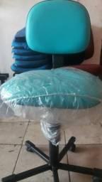 Cadeira secretaria azul marinho
