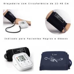 Aparelho Medidor De Pressão Arterial Braço Gg + Usb + Pilhas motoboy de graça
