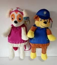 Mochila Patrulha Canina Pelúcia Paw Patrol Skye Chase Personagens Infantil