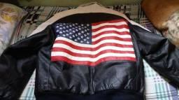 Jaqueta de couro legítimo importada dos USA