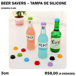 Título do anúncio: Tampa de Silicone para Garrafas de Vidro Beer Savers - 6 Unidades