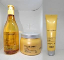 Kit L'oréal Nutrifier Expert Shampoo + máscara + termo Protetor