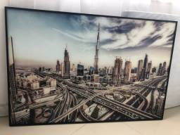 Quadro paisagem urbana - vidro