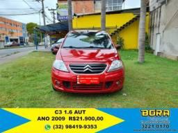 C3 2008/2009 1.6 EXCLUSIVE 16V FLEX 4P AUTOMÁTICO