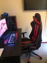Cadeira gamer preta/vermelha