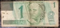 Cédula De R$ 1,00 Mbc Série B0001 - B *
