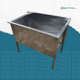 Tanque inox industrial / bancada de cozinha