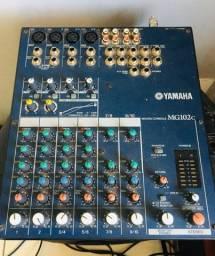 Mesa de som yamaha mg102c