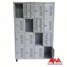 Armário Roupeiro 16 Portas - M190x120x42 cm