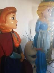 Bonecos em escultura da flozem 3 peças
