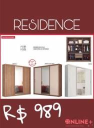 Guarda Roupa Residence- 3 portas- com espelho// Promoção direto da fábrica !!!