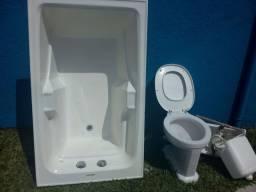 Kit de banheiro: banheira acrílica ,vaso e pia