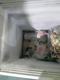 Freezer tampa de vidro