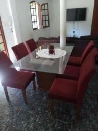 Mesa 6 cadeiras R$ 900