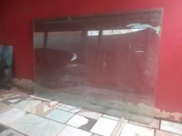 Vidro fixo + 2 fachada de vidro