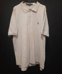 Camisa polo USPA - cinza - XL.