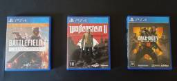 BF1: Revolution + Call of Duty: Black Ops 4 + Wolfenstein II - Ps4 & Ps5