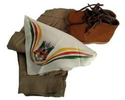 Conjunto pilcha infantil (lenço, bombacha e bota)